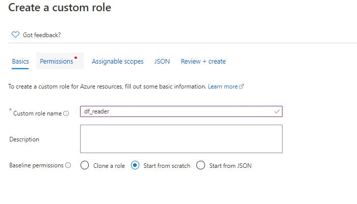 Create a custom role