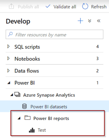 Power BI report accessible from Azure Synapse Analytics