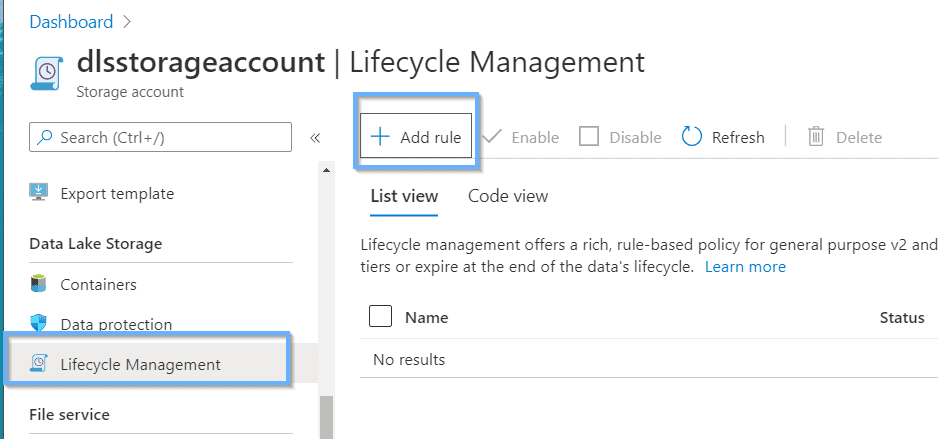 Configure lifecycle management