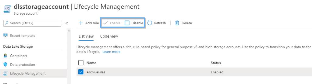 lifecycle management multiple rules