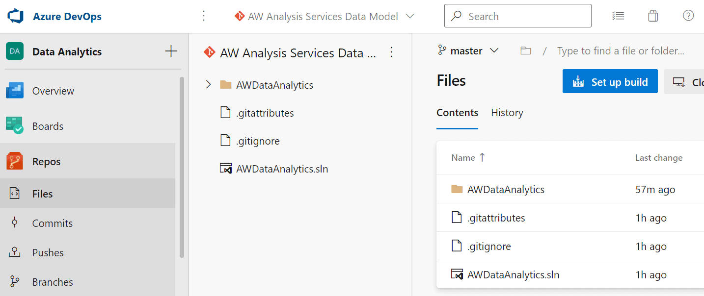 Integrate Analysis Services and Azure DevOps