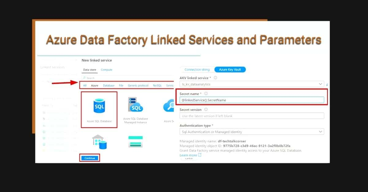 Azure Data Factory Linked Services and Parameters