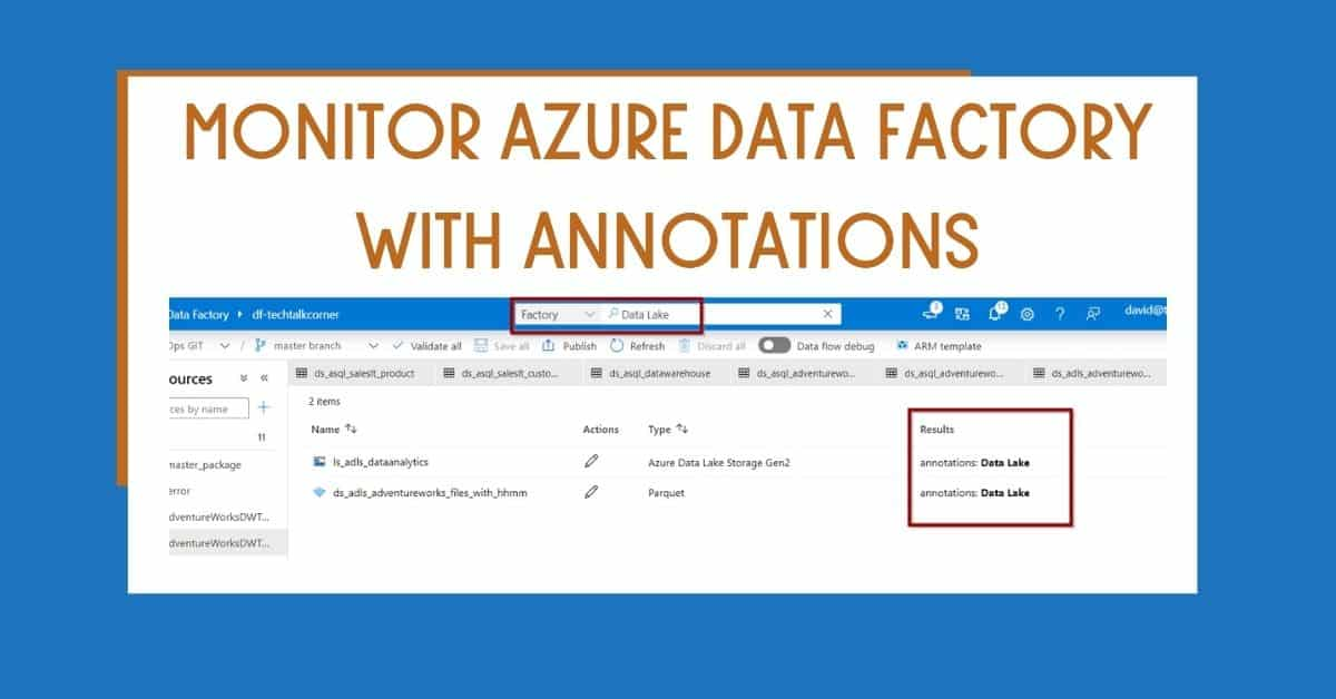 Monitor Azure Data Factory with Annotations