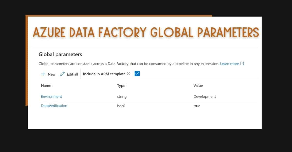 Azure Data Factory Global Parameters