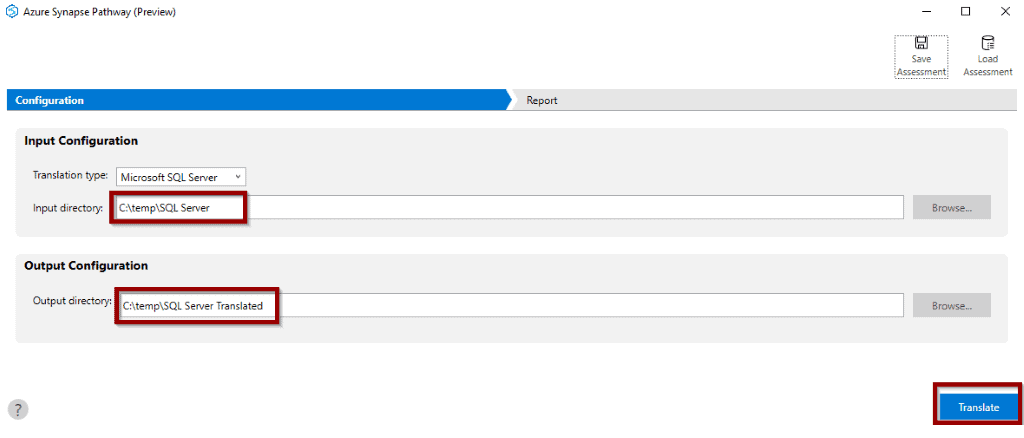 select your input and output script folders