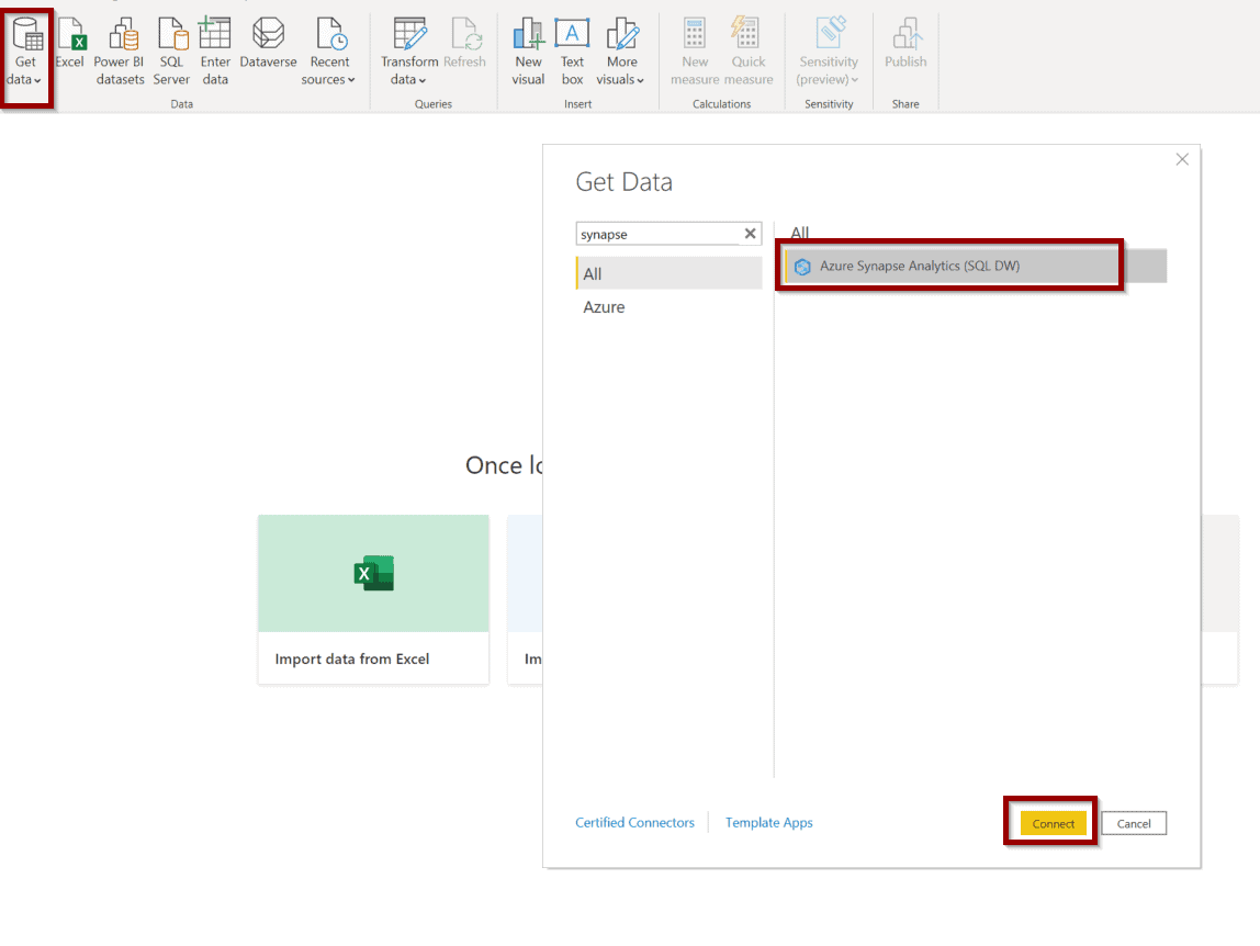 connect to the table using Power BI