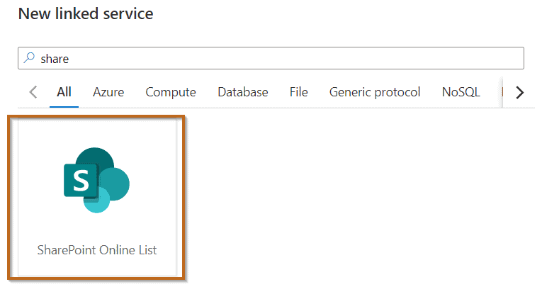 Select the SharePoint Online List connector.